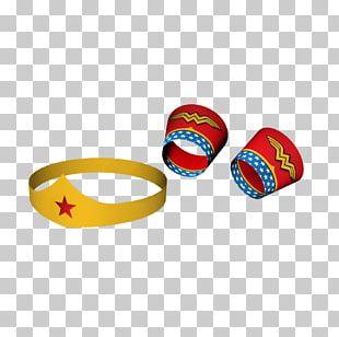 Wonder Woman Tiara Bracelet Party Crown PNG