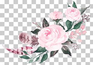 Watercolour Flowers Watercolor Painting Pink Flowers Rose PNG