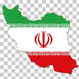 Flag Of Iran Map Stock Photography PNG