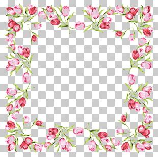 Wedding Invitation Frames Rose Flower PNG