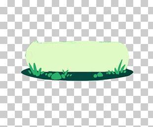 Cartoon Green Meadow Border PNG