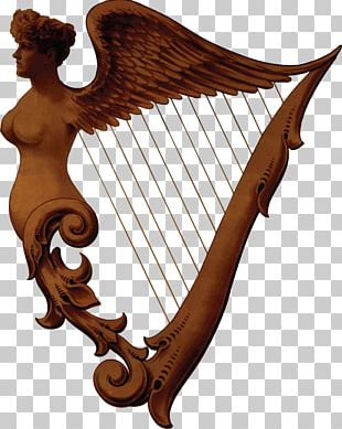 Celtic Harp Musical Instruments String Instruments PNG