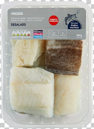 Atlantic Cod Eroski Dried And Salted Cod Fish Frozen Food PNG