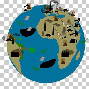Earth Water Pollution Cartoon PNG