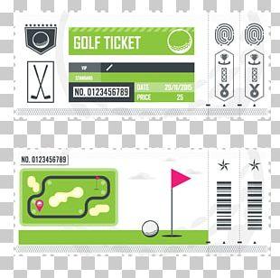 Ticket Golf Art PNG
