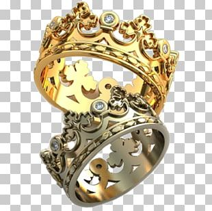 Wedding Ring Gold Crown Silver PNG
