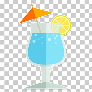 Blue Hawaii Cocktail Garnish Juice Ice Cube PNG