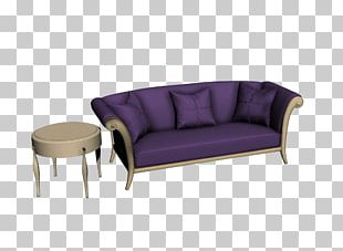 Sofa Bed Purple Couch Loveseat PNG