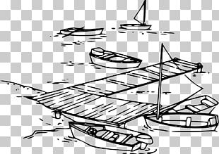 Dock Boat Drawing PNG