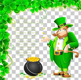 Saint Patricks Day Wish Greeting Card Saying PNG