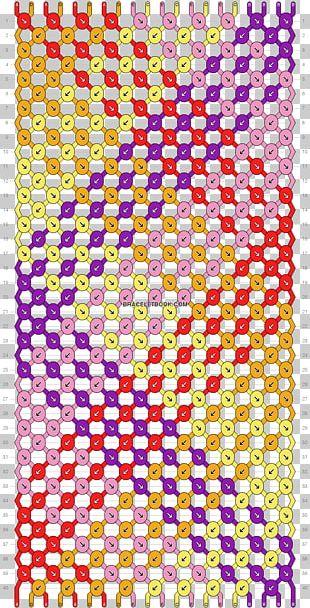 Friendship Bracelet Bead Knot Pattern PNG