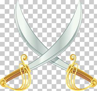 Sabre Knife Sword Weapon Illustration PNG