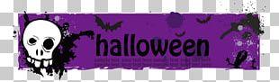 Halloween Banner Purple Vecteur PNG