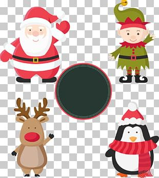 Christmas Santa Claus Gift Label Paper PNG