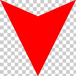 Line Triangle Point Red PNG