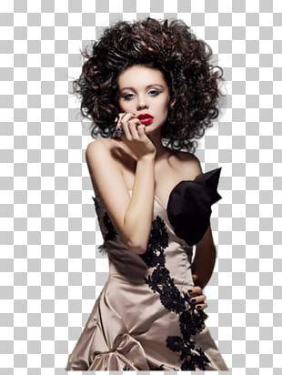 Black Hair Hair Coloring Bangs Long Hair Wig PNG