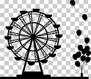 Ferris Wheel Silhouette Drawing PNG