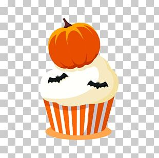 Jack-o'-lantern Halloween Cupcake Trick-or-treating PNG