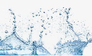 Water Droplets Splash Effect PNG