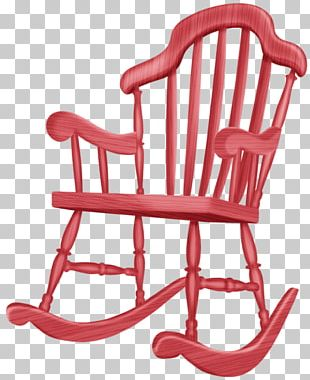 Rocking Chair Furniture Wing Chair PNG