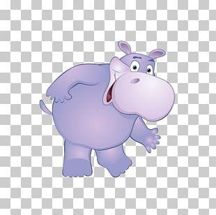 Pig Hippopotamus Cartoon PNG