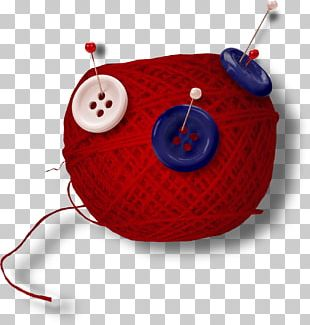 Button Red Yarn PNG