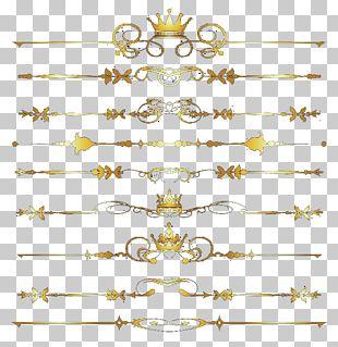Golden Dividing Line PNG