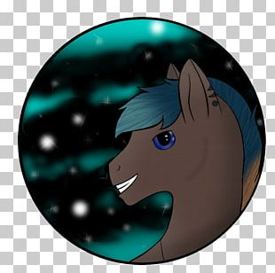 Horse Character Turquoise Fiction Mammal PNG