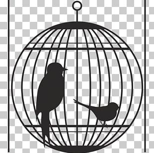 Bird Cage Silhouette PNG