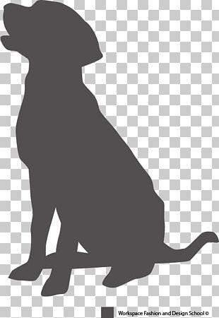 Labrador Retriever Puppy Dog Breed Pet Sitting Silhouette PNG