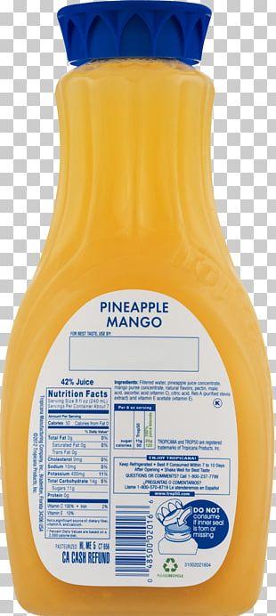Orange Drink Orange Juice Tropicana Products Nutrition Facts Label PNG