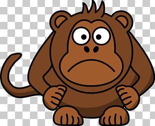 Ape Chimpanzee Monkey Cartoon PNG
