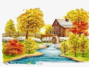 Fall Landscape PNG