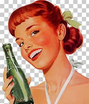 Vintage Soda Girl PNG