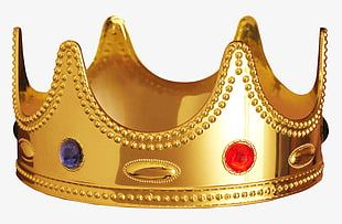 European Style Gold Crown PNG
