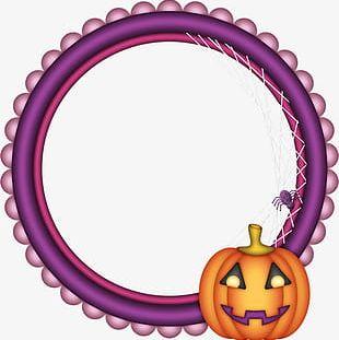Halloween Pumpkin Frame PNG