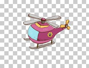 Helicopter Airplane Cartoon PNG