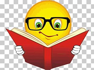 Emoticon Reading Book Emoji Smiley PNG