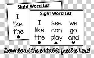 Writing Kindergarten Sight Word Language Arts Literacy PNG