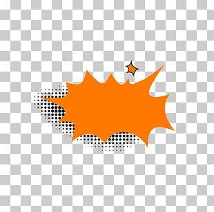 Cartoon Orange Explosion Icon PNG