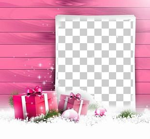Christmas Card Gift Greeting Card Pink PNG