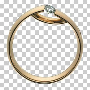 Ring Jewellery Diamond Brilliant Silver PNG