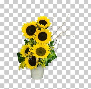 Common Sunflower Cut Flowers Floral Design Shopping Cart PNG