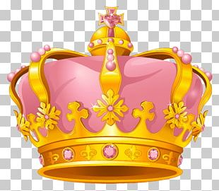 Crown Gold Pink PNG