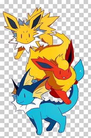 Eevee Pikachu Vaporeon Espeon Jolteon PNG