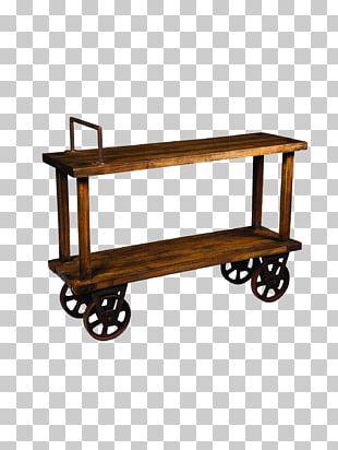 Table Shopping Cart Rail Transport Furniture PNG