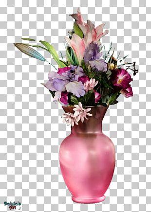 Vase Pink Flowers Floral Design PNG