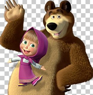 Masha And The Bear. Educational Games Animation Child PNG