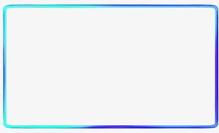 Blue Simple Line Border Texture PNG