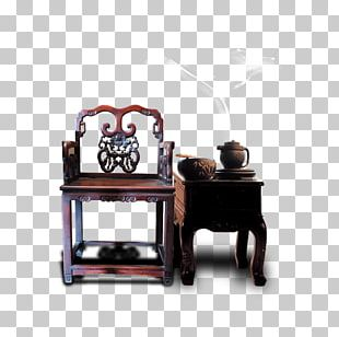Table Chair Furniture Chinoiserie PNG